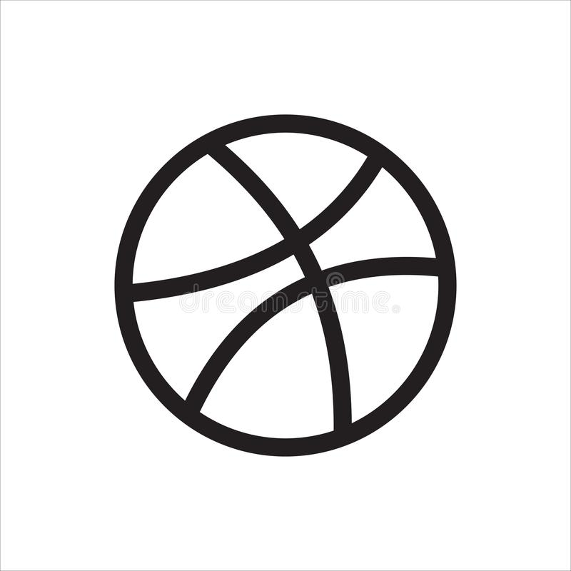 Dribbble social media logo and icon. Vector image stock illustration
