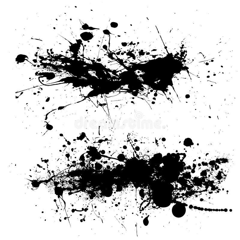 dribblinggrungesplat vektor illustrationer