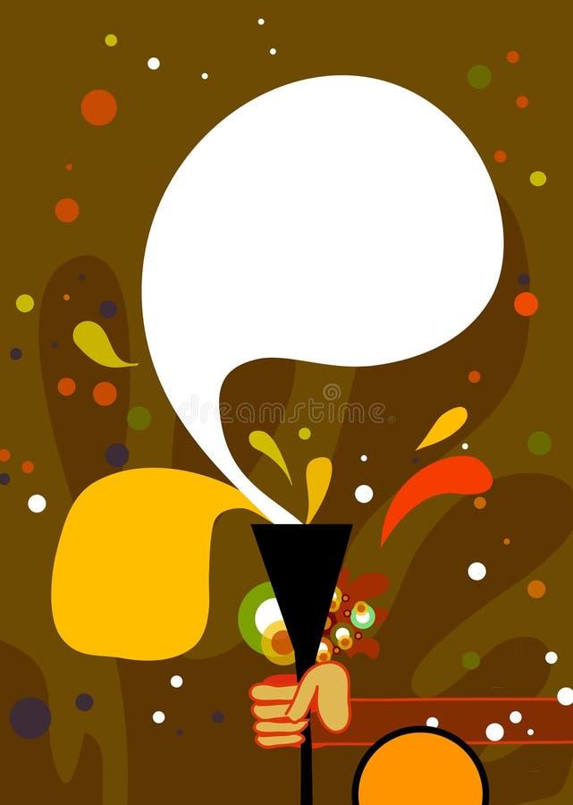 dricka affisch för design stock illustrationer