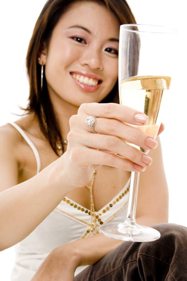 Dricka champagne royaltyfri bild
