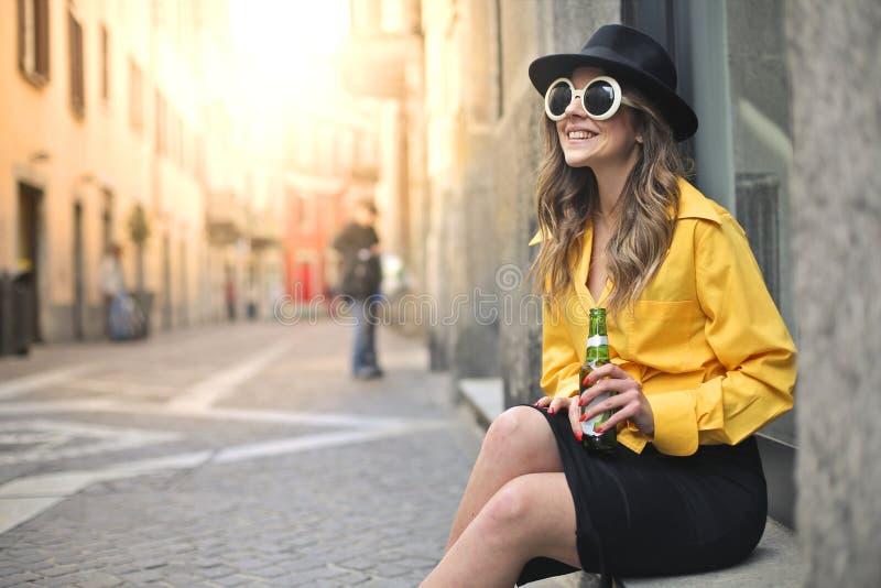 Dricka för kvinna arkivfoton