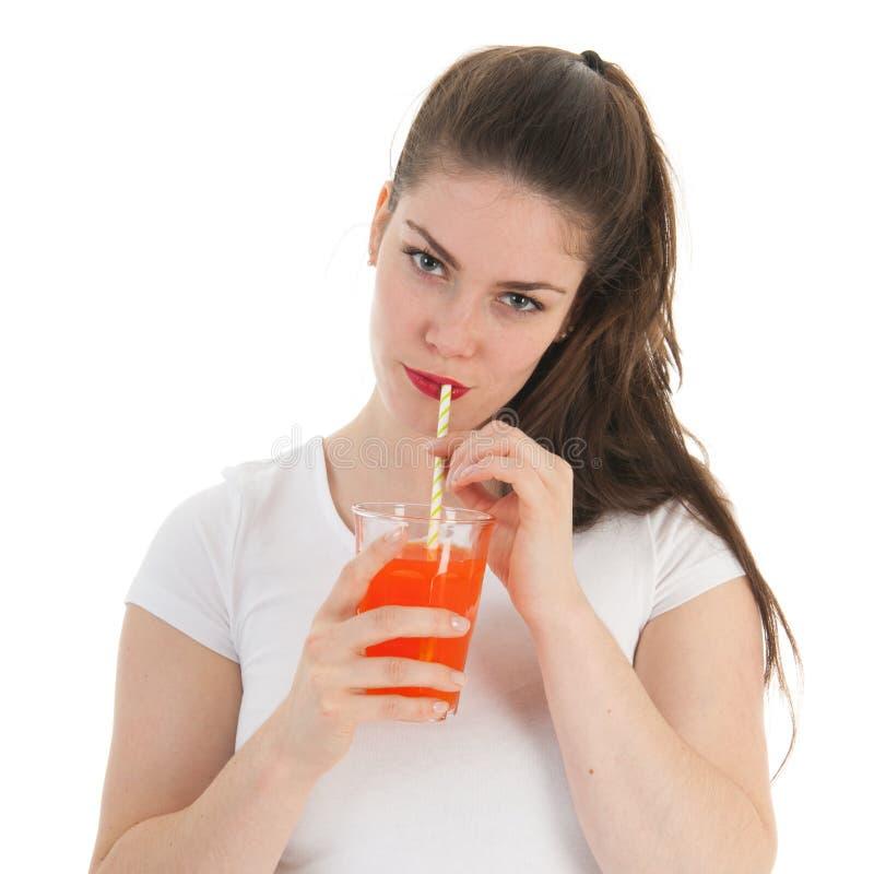 dricka flickalemonade arkivbild