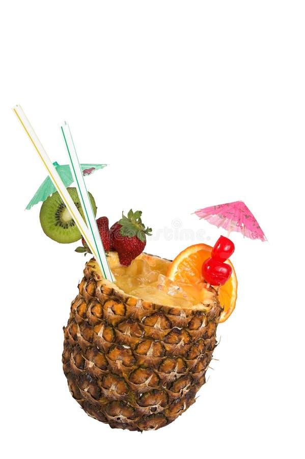 dricka fruktsaftananas royaltyfria bilder