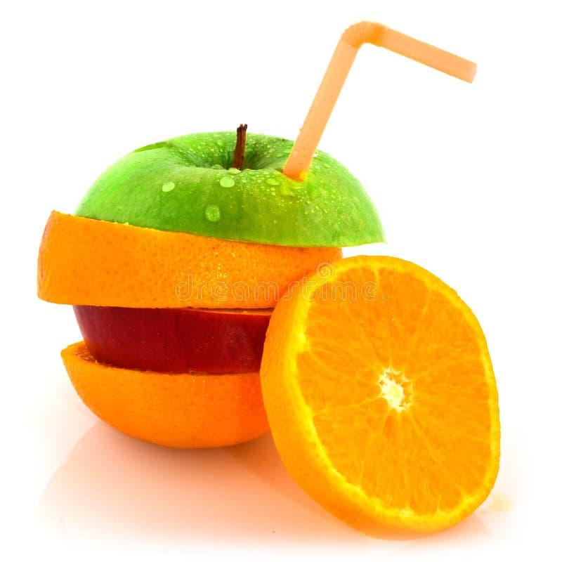 dricka fruktsugrör royaltyfri fotografi