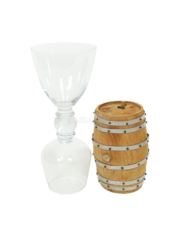 dricka glass oak för trumma arkivbilder