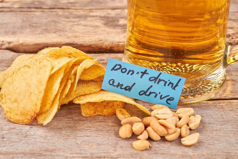 Dricka inte och kör begreppet royaltyfri foto