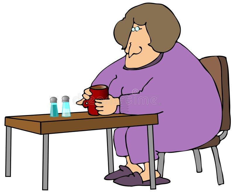 dricka kvinna för kaffe stock illustrationer