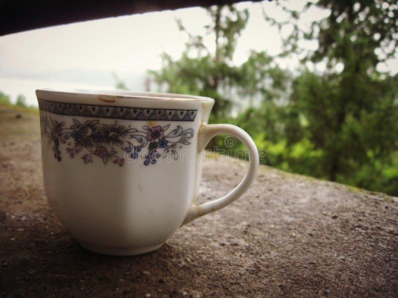 Dricka något kaffe med mig royaltyfria bilder