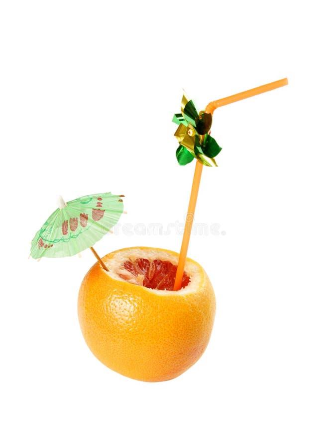 dricka saftigt rør för ny grapefrukt royaltyfri fotografi