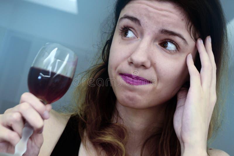 dricka wine royaltyfri bild