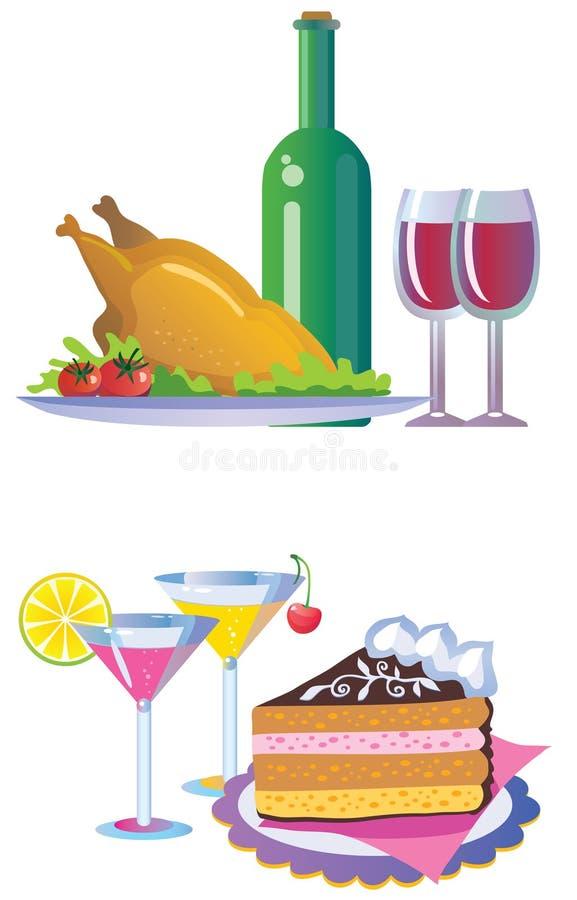 dricker mat stock illustrationer