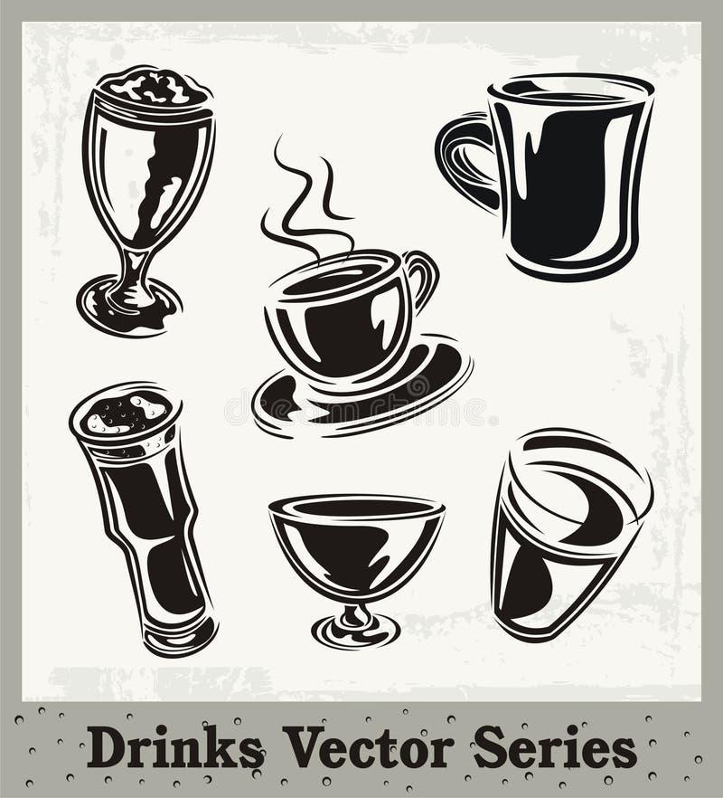 dricker serie royaltyfri illustrationer