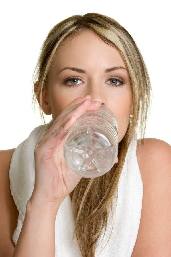 dricksvattenkvinna royaltyfria bilder