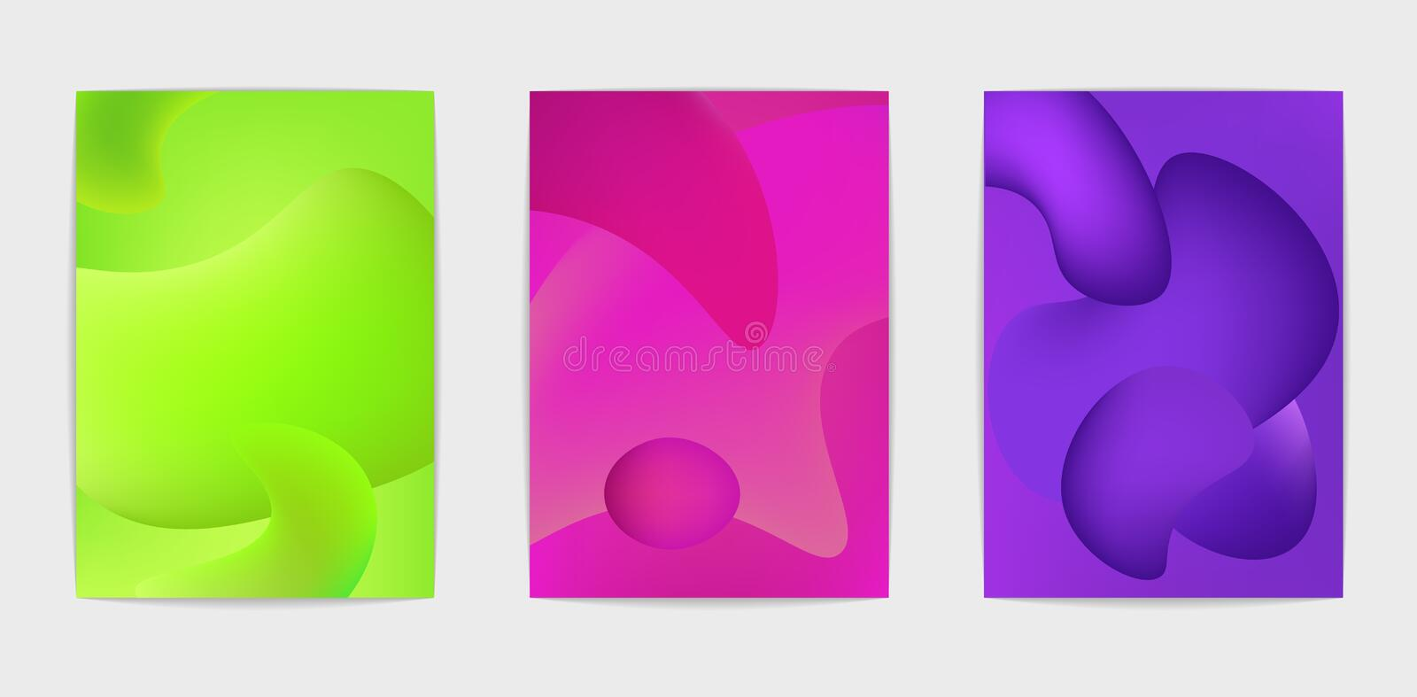 Drie abstracte affiches vector illustratie