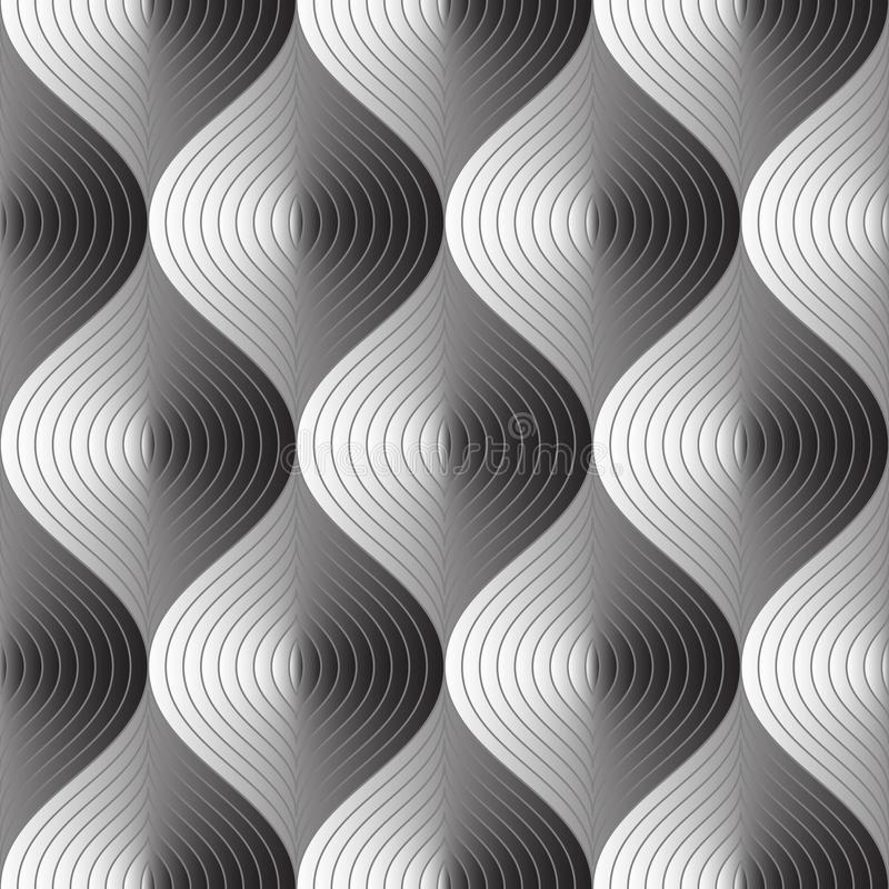 Drie afmetingen vatten naadloos patroon samen stock illustratie