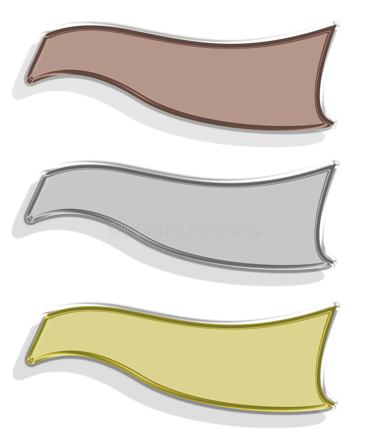 Drie banners royalty-vrije illustratie