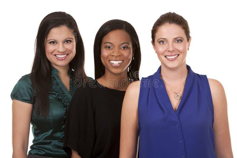 Drie bedrijfsvrouwen stock afbeeldingen