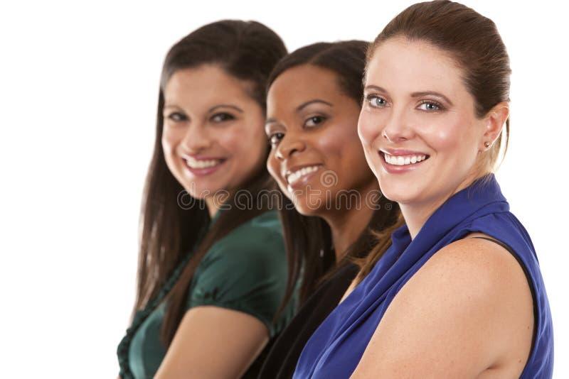 Drie bedrijfsvrouwen stock foto's