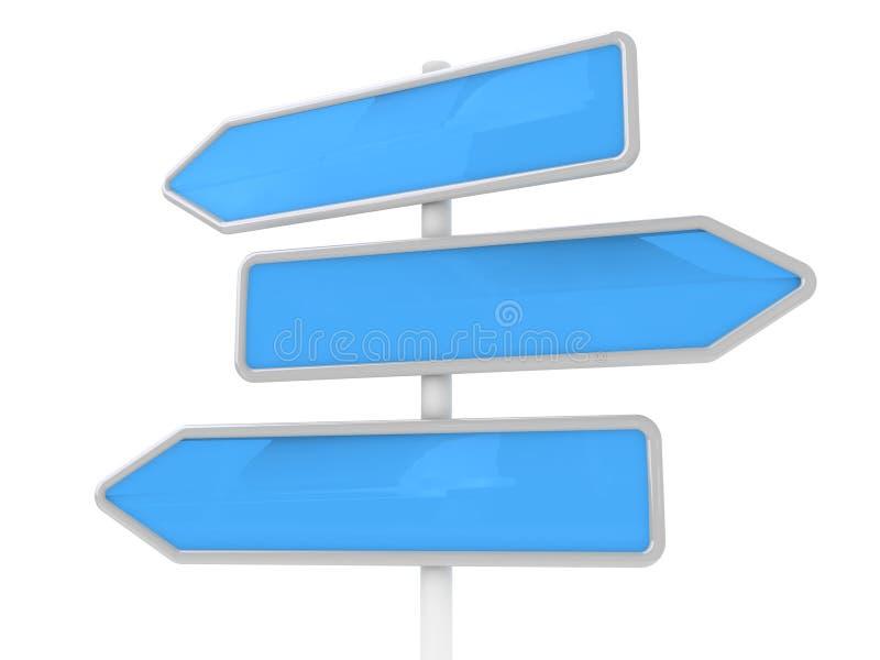 Drie blauwe pijlen royalty-vrije illustratie