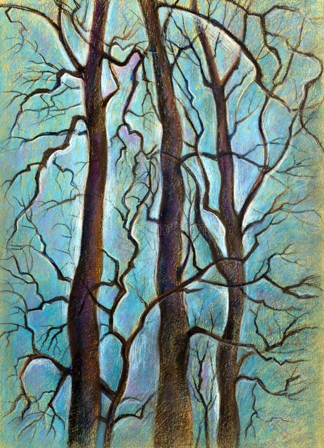 Download Drie bomen stock illustratie. Illustratie bestaande uit romantisch - 39106370