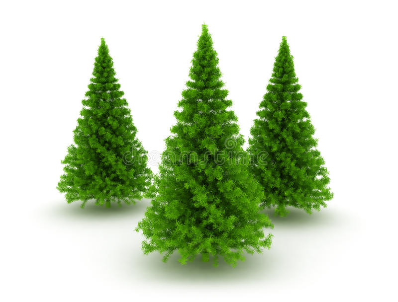 Drie bomen van de Kerstmispijnboom vector illustratie
