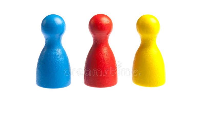Drie cijfers van het pandspel royalty-vrije stock afbeelding