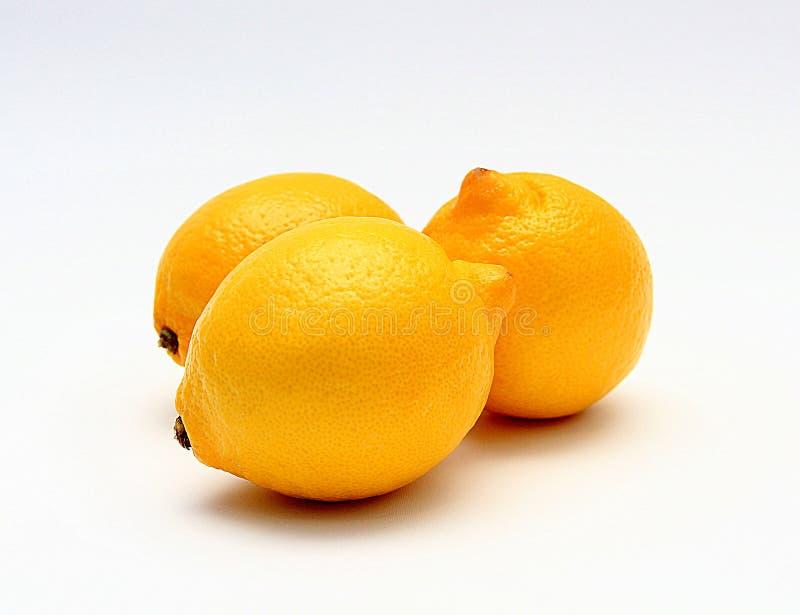 Drie citroenen royalty-vrije stock foto