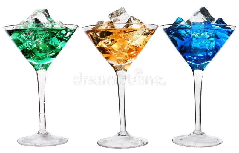 Drie Cocktails royalty-vrije stock afbeelding