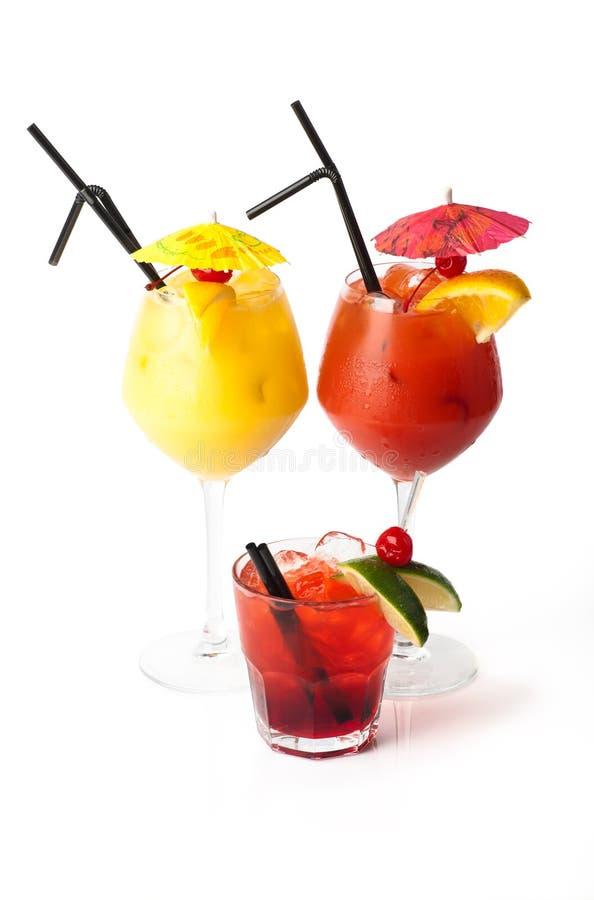 Drie cocktails stock fotografie