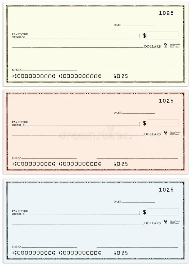 Drie controles zonder naam en valse aantallen royalty-vrije illustratie