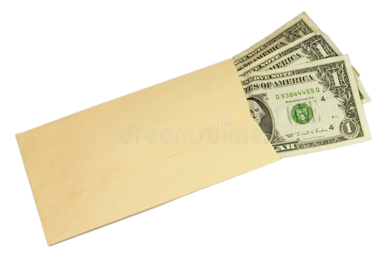 Drie dollars stock foto