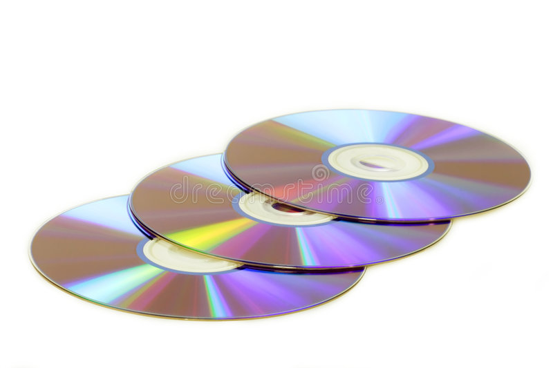Drie DVDs stock foto