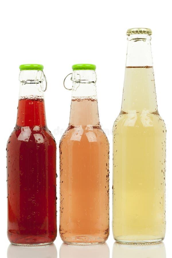 Drie flessen royalty-vrije stock foto