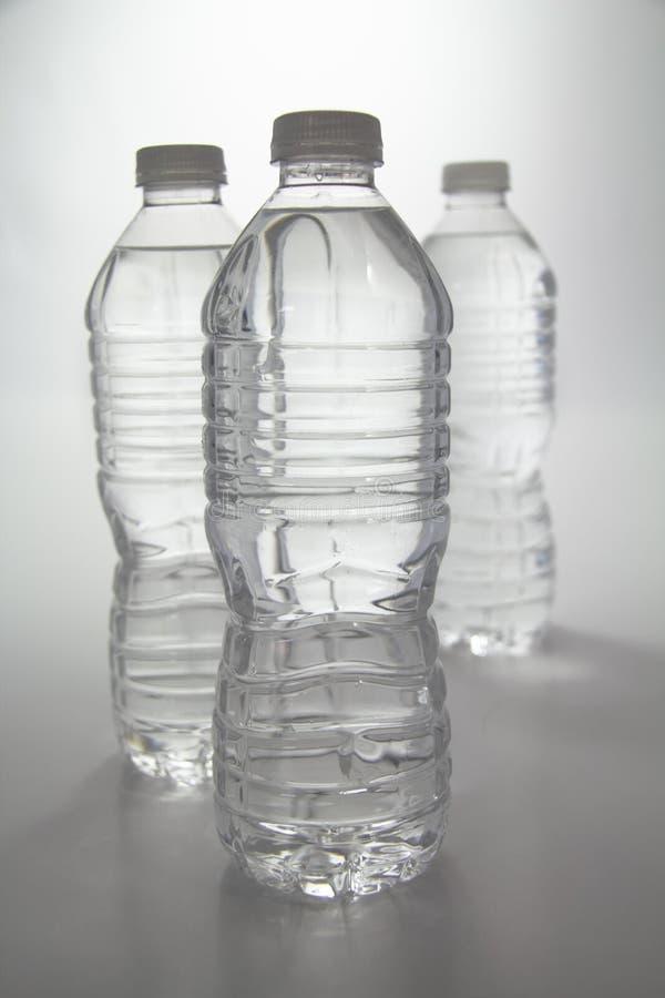 Drie Flessen van het Water royalty-vrije stock fotografie