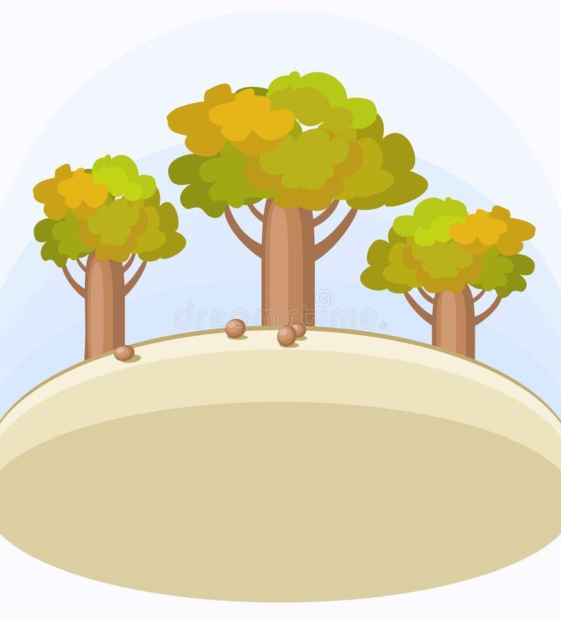 Drie Flessenbomen stock illustratie