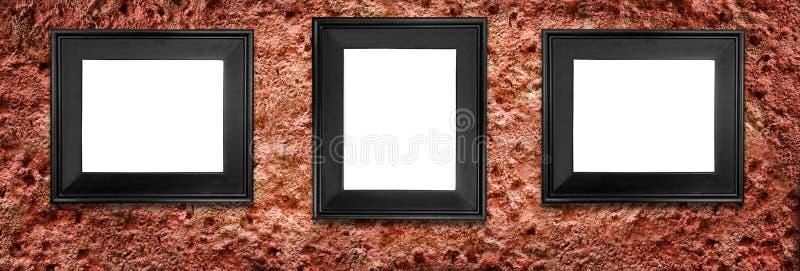 Drie frames stock fotografie