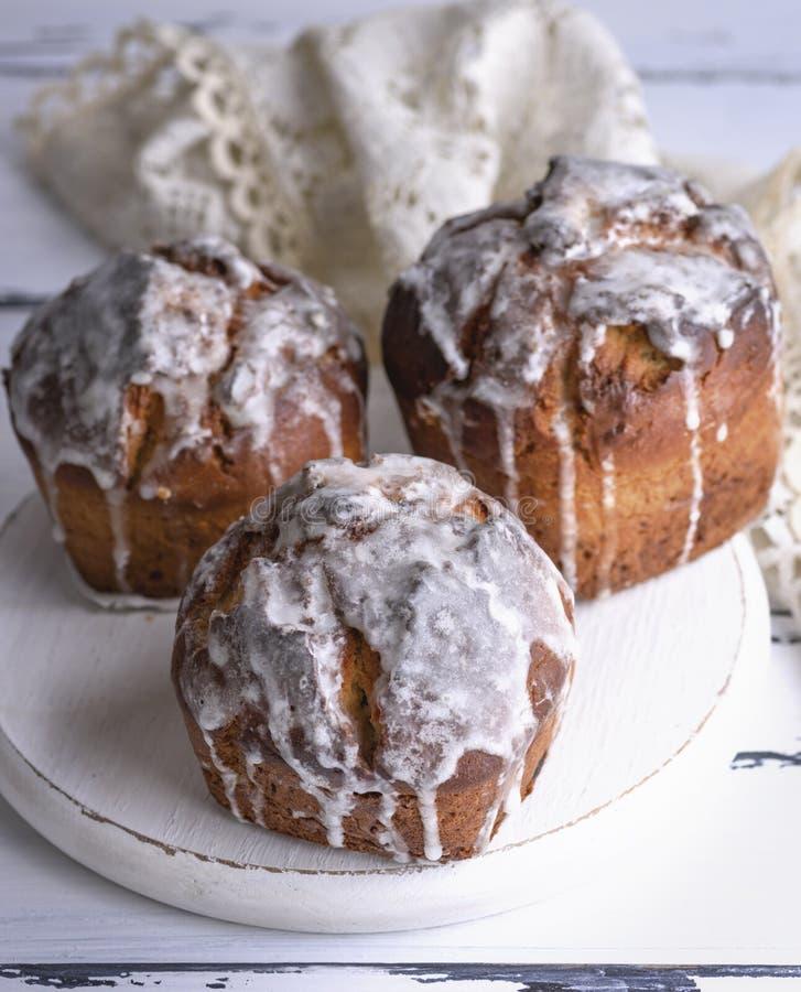 Drie gebakken Pasen-cake, hoogste mening stock afbeeldingen