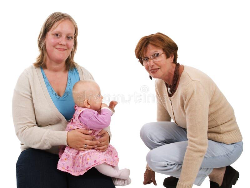 Drie generaties 3 royalty-vrije stock afbeelding