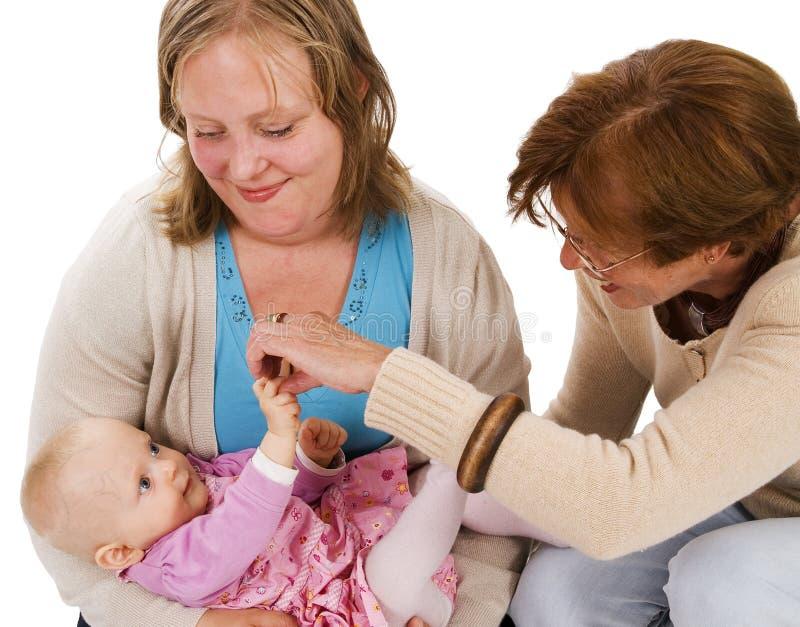 Drie generaties 4 stock foto's