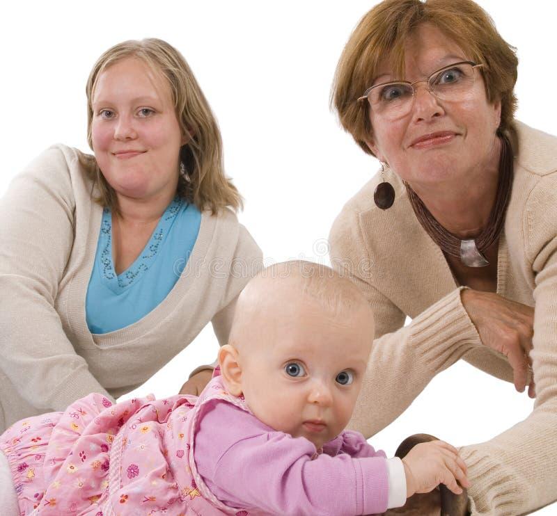 Drie generaties 5 op wit royalty-vrije stock afbeelding