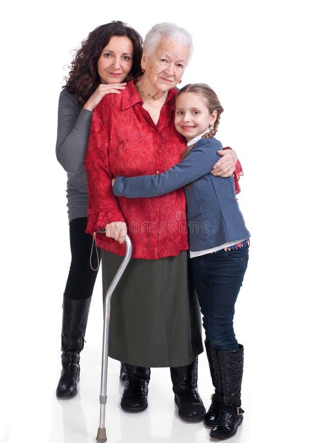 Drie generaties van vrouwen stock foto's