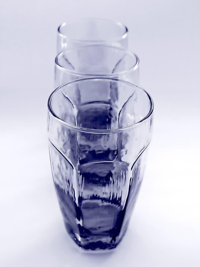 Drie Glazen Samen Royalty-vrije Stock Foto's