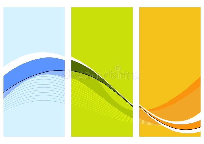Drie golvende kolommen royalty-vrije illustratie