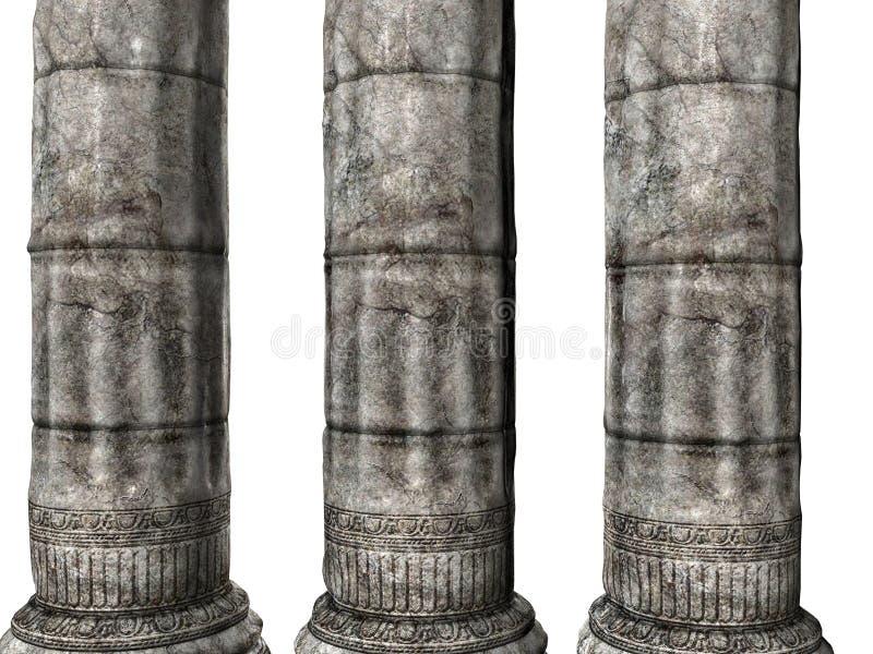 Drie Griekse Kolommen royalty-vrije illustratie