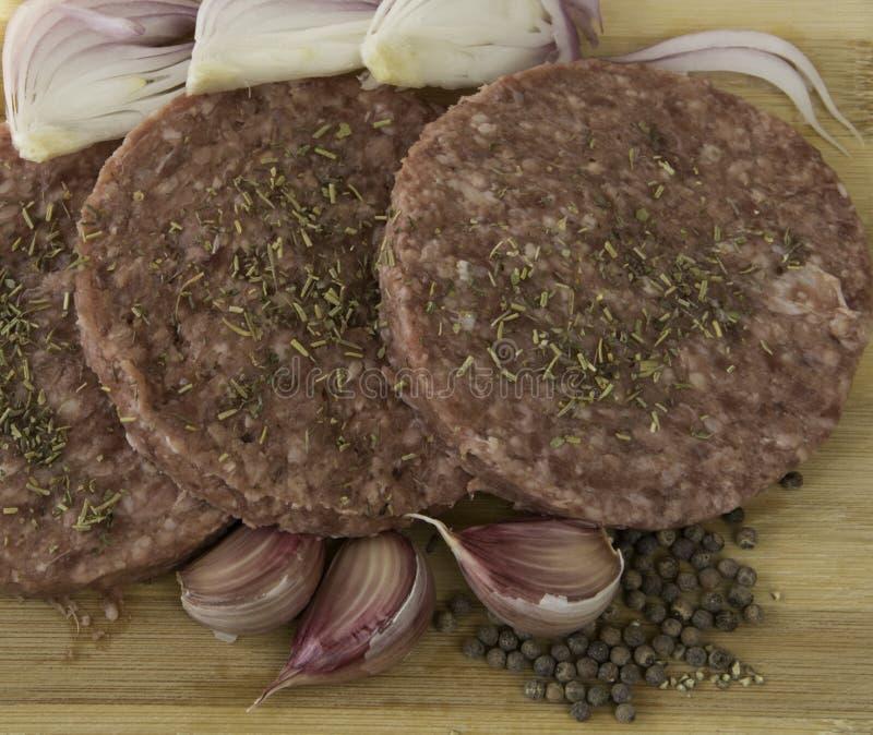 Drie Hamburgers royalty-vrije stock afbeeldingen