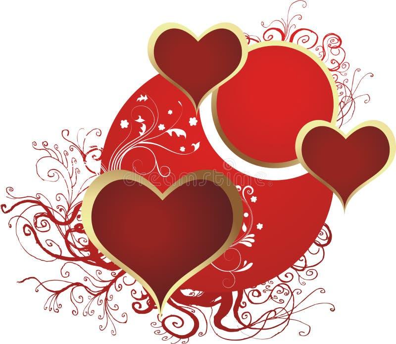 Drie harten royalty-vrije illustratie