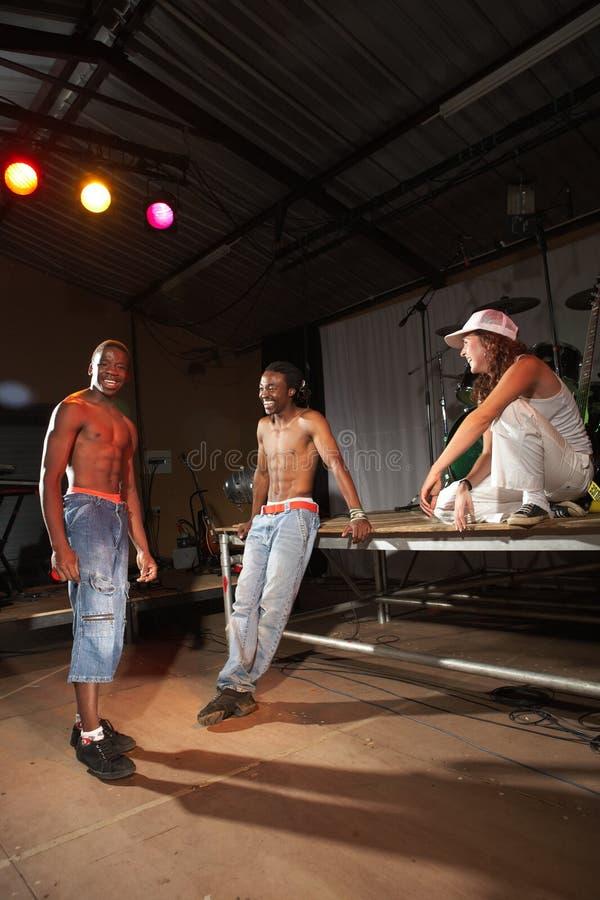 Drie heup-hop dansers stock fotografie