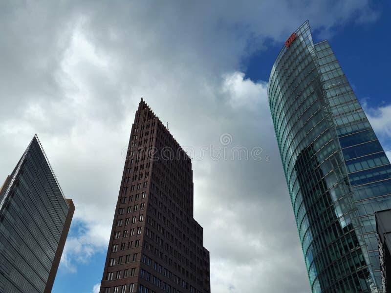 Drie hoge torens in Berlijn stock fotografie