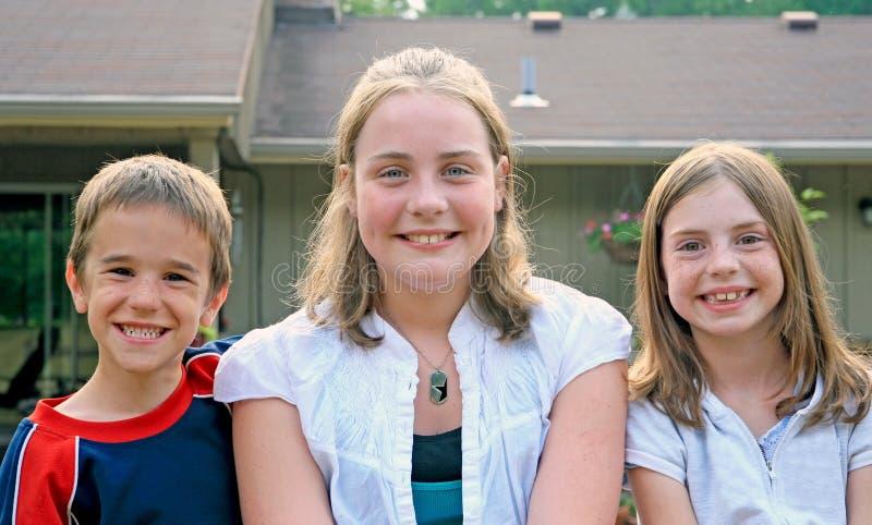 Drie Jonge geitjes stock fotografie