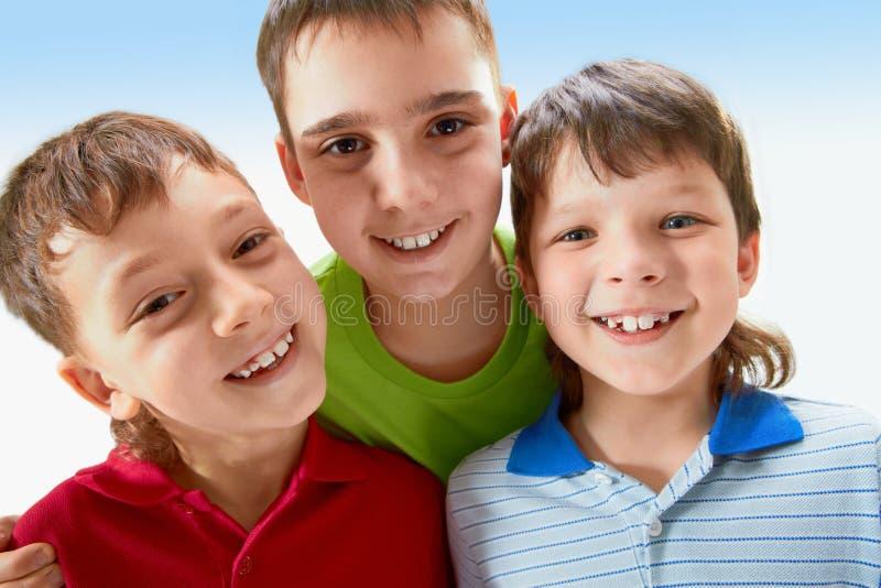 Drie jongens royalty-vrije stock afbeeldingen